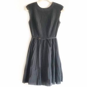 Ted Baker Terna Dress Belted Black Sz 1 (0-2)